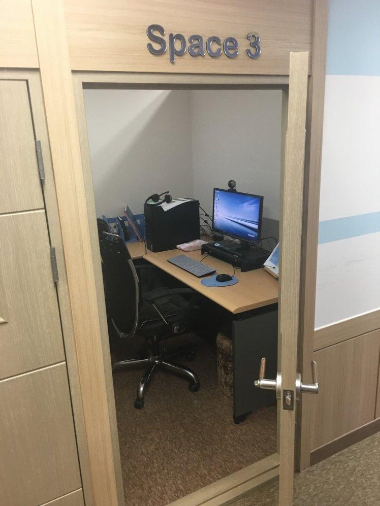 My cyber school desk!